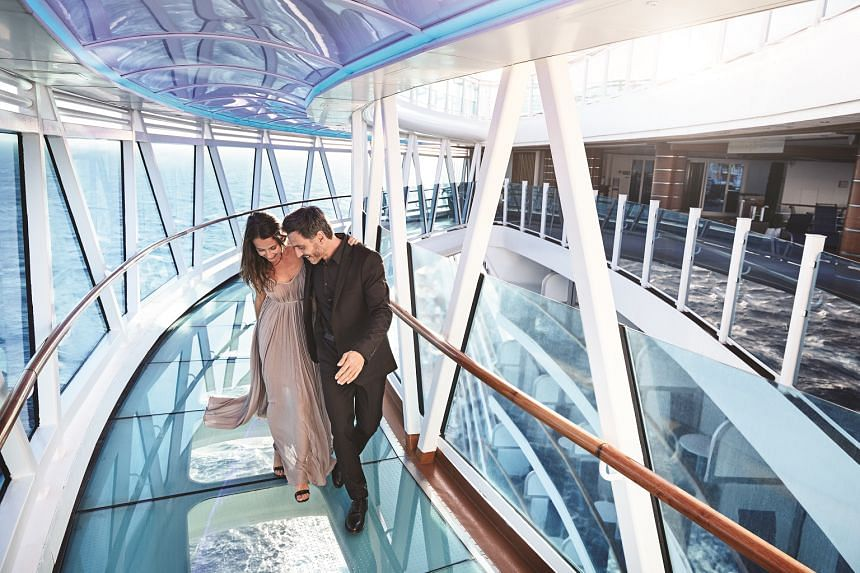 Majestic Princess boasts signature elements from Royal Class Ships, such as SeaWalk.