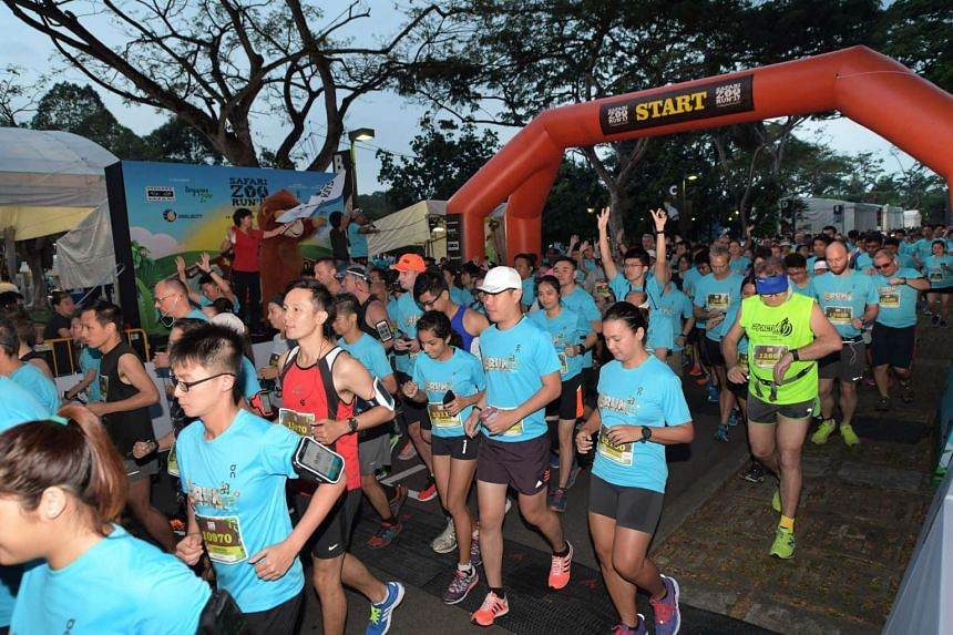 Some 7, 500 runners took to the pathways of the Night Safari and Singapore Zoo on Saturday morning (Feb 18) to raise $100,000 for wildlife conservation.