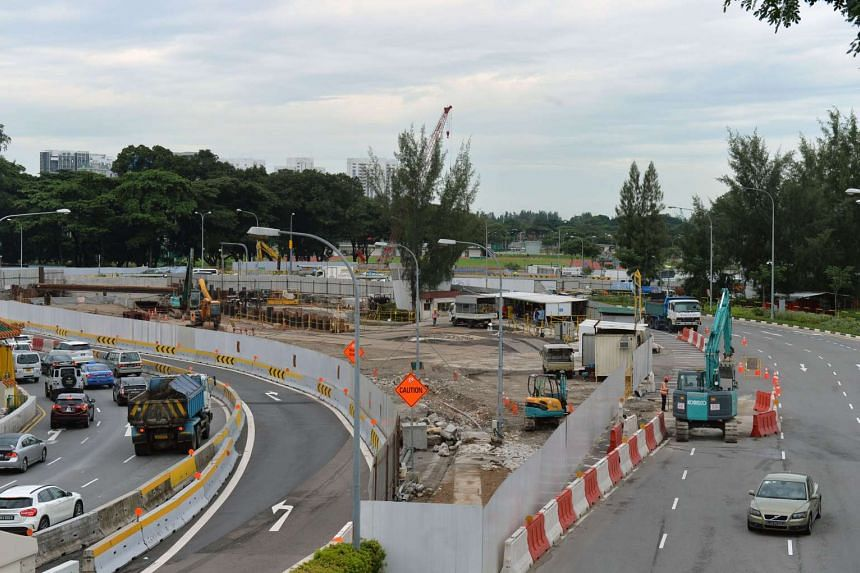 The two-lane underpass being built in 2016. It will allow traffic from the Kallang-Paya Lebar Expressway (KPE) and Sims Way to get to Nicoll Highway directly.