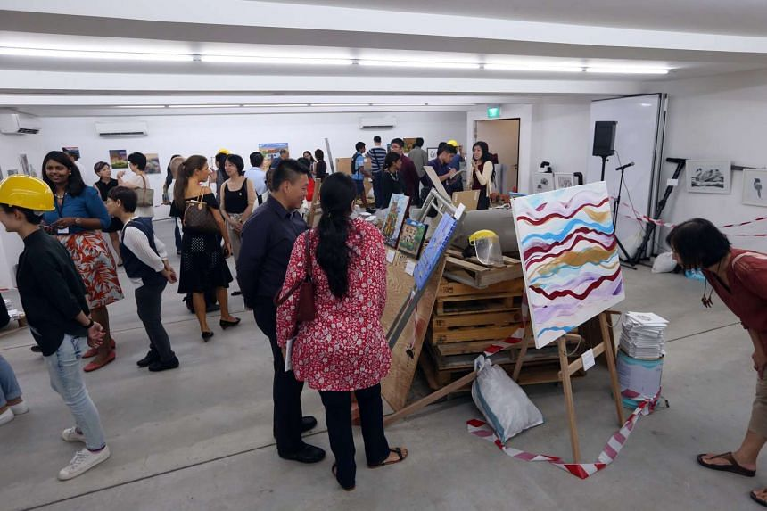 Singapore Association for Mental Health (SAMH) showcased the art created by its patients at an exhibition titled In Process, In Progress, launched at Goodman Arts Centre on Feb 17, 2017.