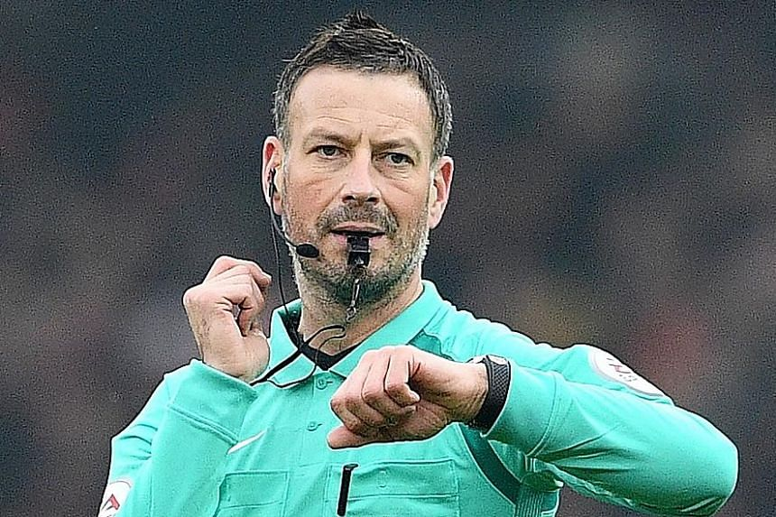 Mark Clattenburg making a call during a Premier League game. He will be getting a massive pay rise as Saudi Arabian football's new head referee.