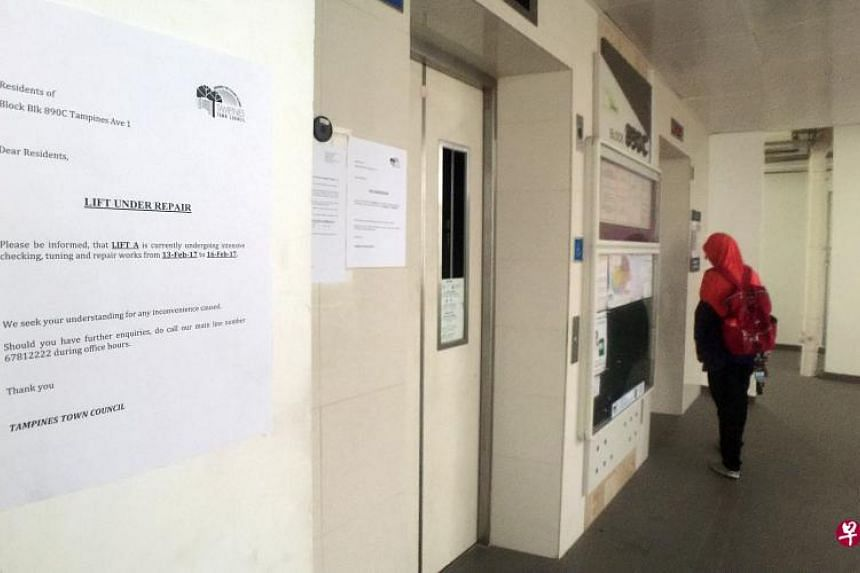 The lift at Block 890C Tampines Avenue 1 remains suspended and investigations by an independent examiner are ongoing.