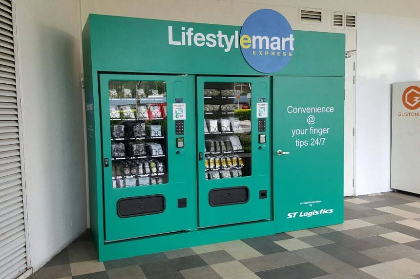 A vending machine for army supplies at White Sands Mall.
