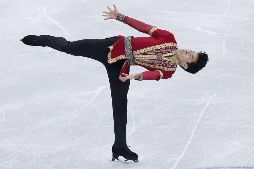 Nathan Chen of the USA, performs during the men's free skating event of the ISU Four Continents Figure Skating Championships at Gangneung Ice Arena in South Korea on Feb 19, 2017.