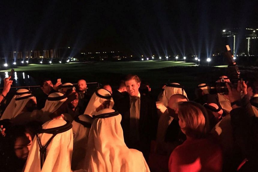 Eric Trump attends the opening ceremony of the Trump International Golf Club in Dubai, United Arab Emirates.