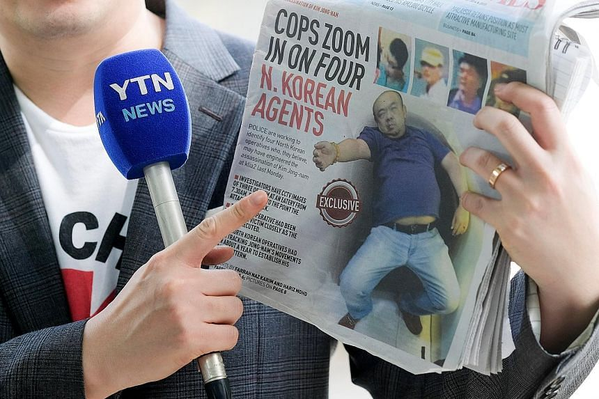A report in a Malaysian newspaper on the ongoing investigations into the murder of Mr Kim Jong Nam, a half-brother of North Korean leader Kim Jong Un, in Kuala Lumpur last Monday.