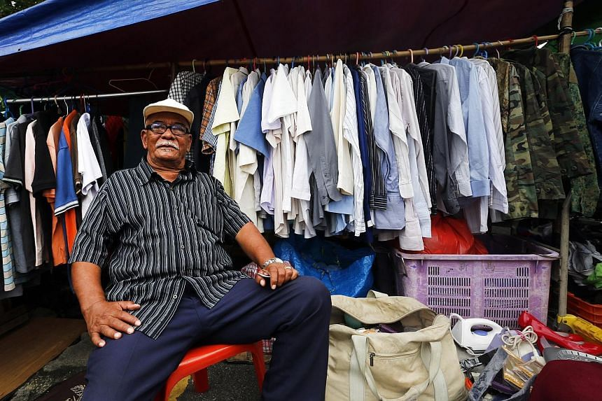 Former auxiliary policeman Aderoh Bakar has been selling second-hand items at Sungei Road flea market for about 20 years.