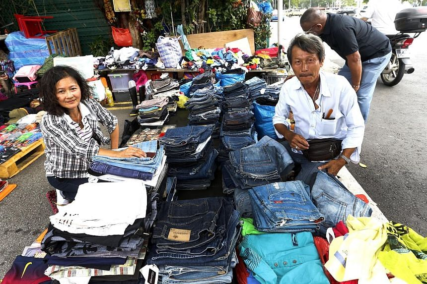 Mr Neo, who sells unwanted clothes, met his wife Madam Peh at the Sungei Road flea market. They have a daughter in Secondary 1.