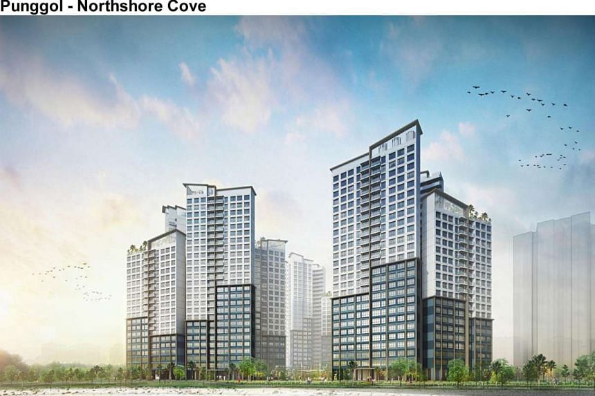 As of 5pm on Feb 20, 2017, there were more than five buyers vying for each five-room unit in the Punggol Northshore Cove project.