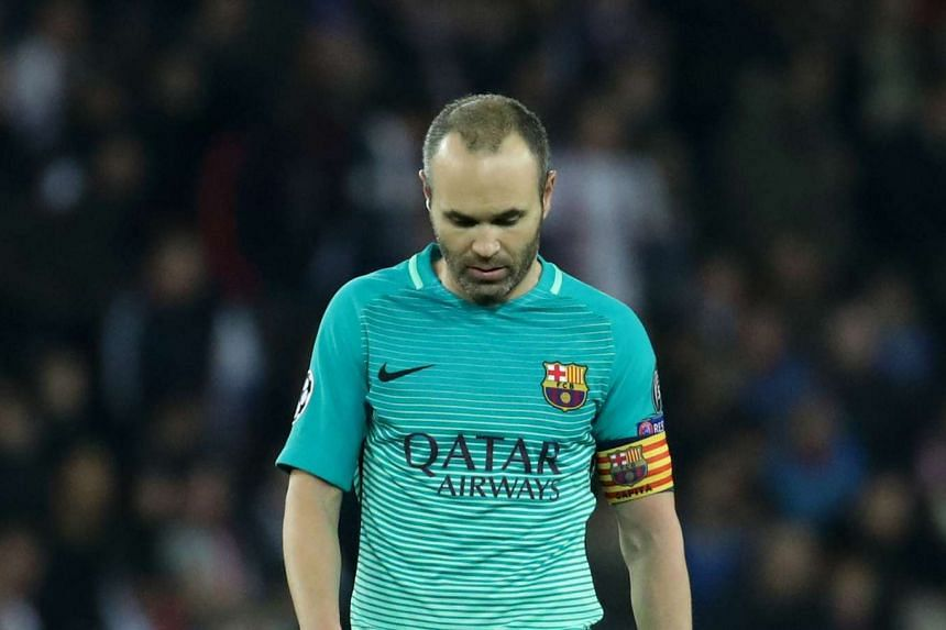 Barcelona's Andres Iniesta acknowledged the defending Primera Liga champions were rattled after the defeat to PSG but backed the coach and team to restore the side's winning mentality.