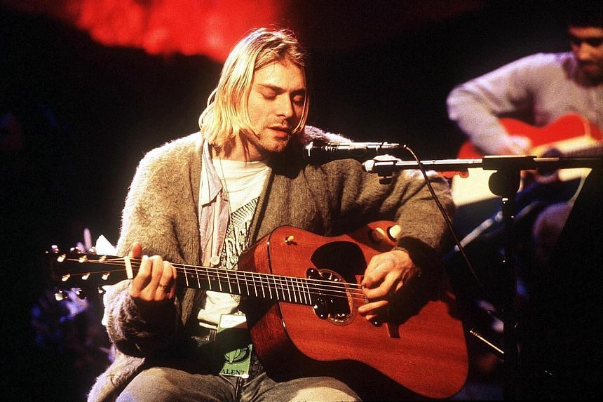 Kurt Cobain, in an undated performance (above), committed suicide in 1994. Nevermind, his band Nirvana's 1991 masterpiece, is still considered one of the most influential albums in history.