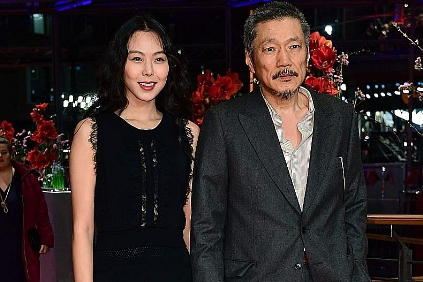 Kim Min Hee became the first South Korean to win the Silver Bear for Best Actress for On The Beach At Night Alone directed by Hong Sang Soo (both above). The movie appears to mirror the rumoured relationship between them.