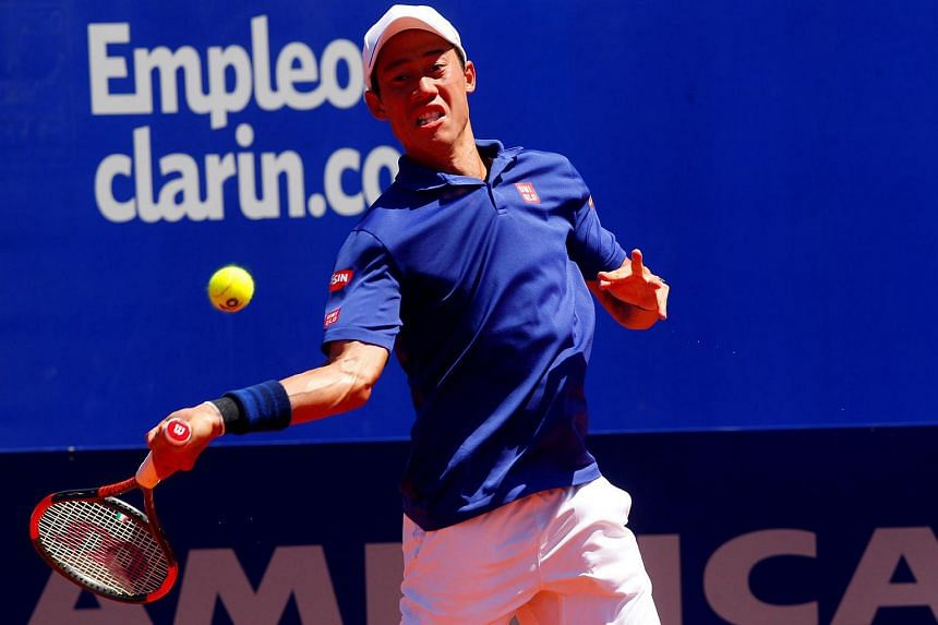 Kei Nishikori of Japan was defeated by Ukraine's Alexandr Dolgopolov 7-6 (7-4), 6-4 in the Buenos Aires clay-court title match.