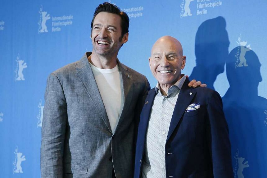 Hugh Jackman (left) and Patrick Stewart (right).