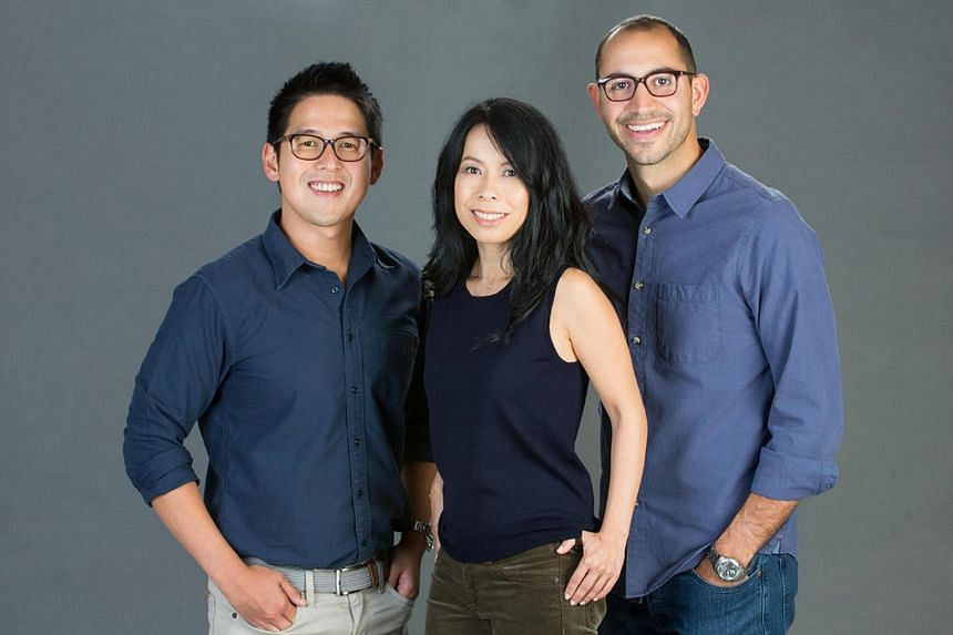 The fund, Fika Ventures, set up by Singaporean Zhuo Tianxiang (left) and two partners, Ms Eva Ho (centre) and Mr Arteen Arabshahi, will focus on US technology start-ups in enterprise software, financial technology, marketplaces and digital health.