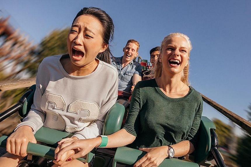 Anticipating events which can lead to extreme panic, such as a roller-coaster ride, can help patients avoid such situations.