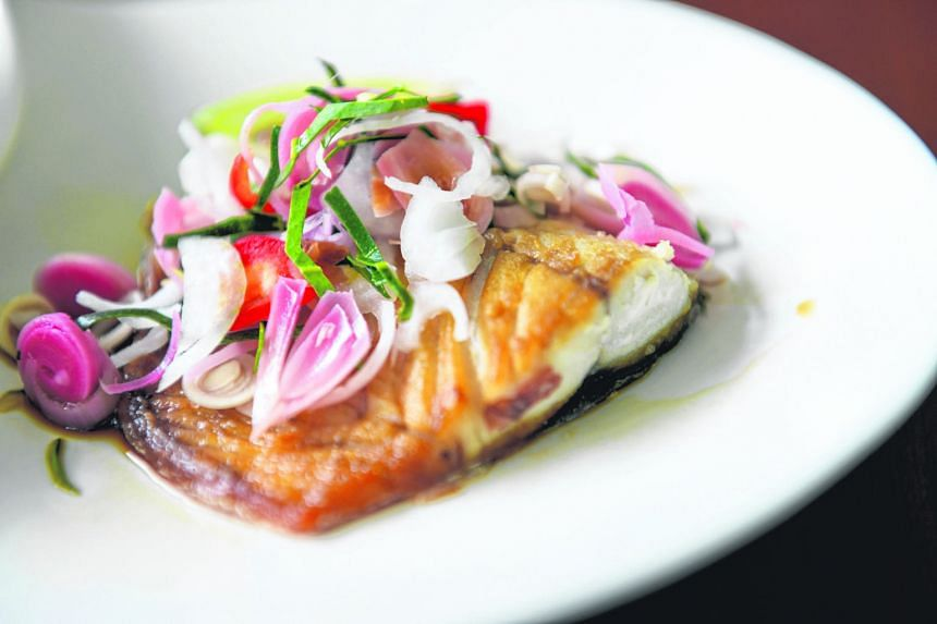 You can serve this seared fish with a small mound of brown rice and some greens, steamed or left raw as a salad.