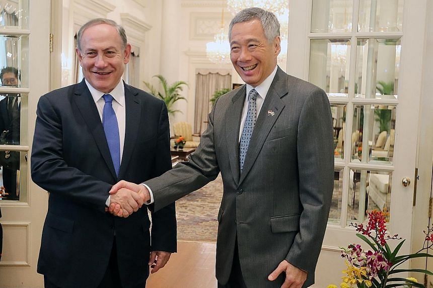 PM Lee and Mr Netanyahu reaffirmed the strong and longstanding ties between their countries when they met at the Istana yesterday.