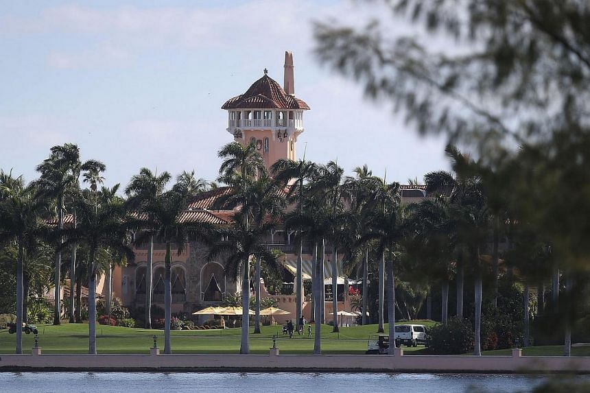 The Mar-a-Lago Resort is seen where President Donald Trump is hosting Japanese Prime Minister Shinzo Abe, on Feb 11, 2017, in West Palm Beach, Florida.