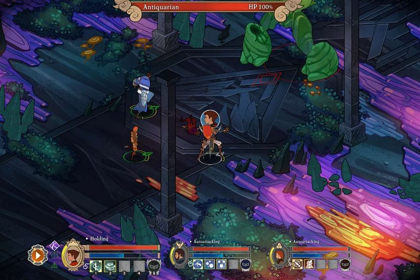 A screenshot of Masquerada: Songs and Shadows, which won the award for the best local game (Editor's Choice) at the ST Digital Awards 2017.