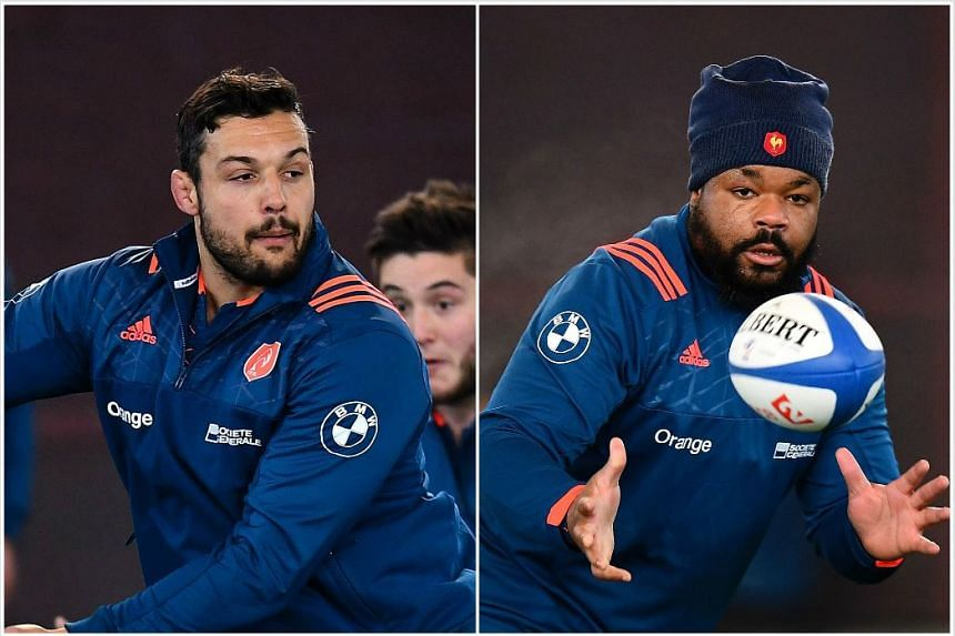France will be without the services of flanker Damien Chouly (left) and centre Mathieu Bastareaud for their Six Nations clash against Ireland.