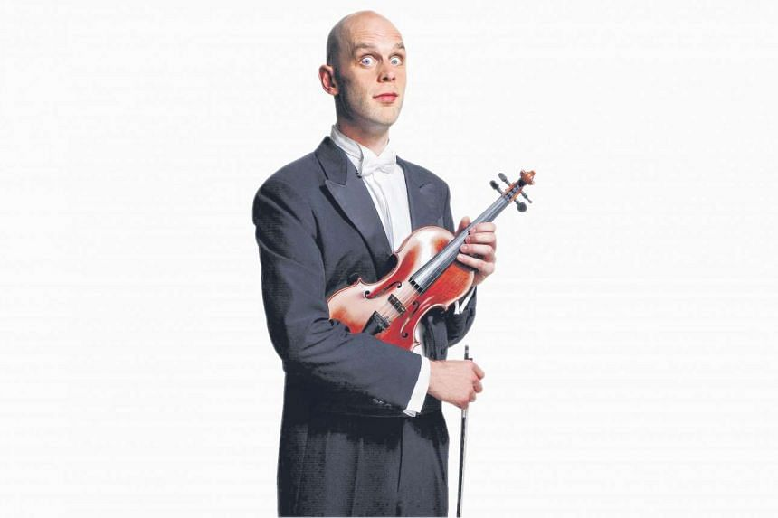 Comic violinist Adrian Garratt will perform in character as Sid Bowfin.