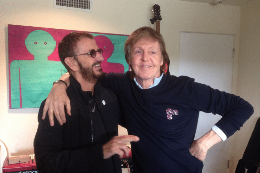 Ringo Starr's publicist confirmed that Paul McCartney was there to contribute to Starr's upcoming album.