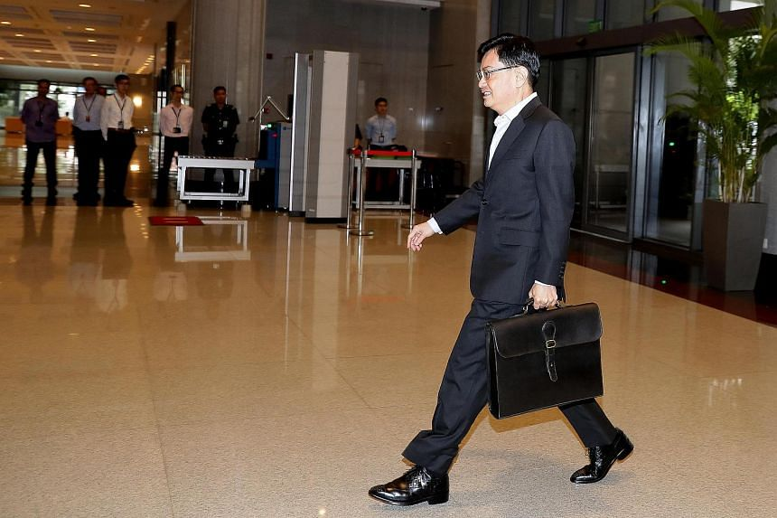 Mr Heng Swee Keat, Minister of Finance at the Parliament House on the first day of budget, on Feb 20, 2017.