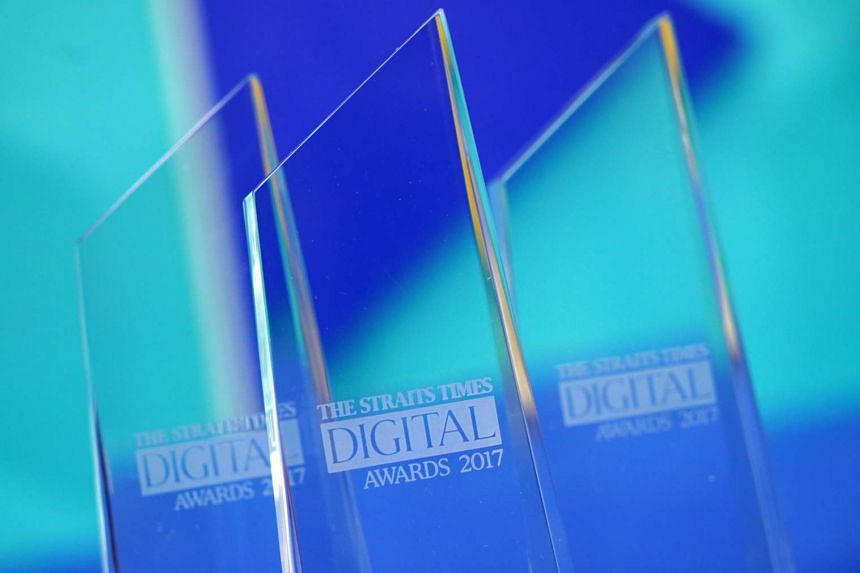 The sixth Straits Times Digital Awards was held in Marina Square Central Atrium today.