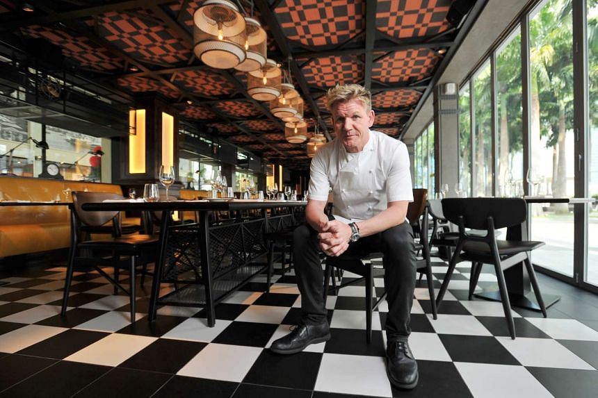 Chef Gordon Ramsay in his Bread Street Kitchen at Marina Bay Sands on June 23, 2015.