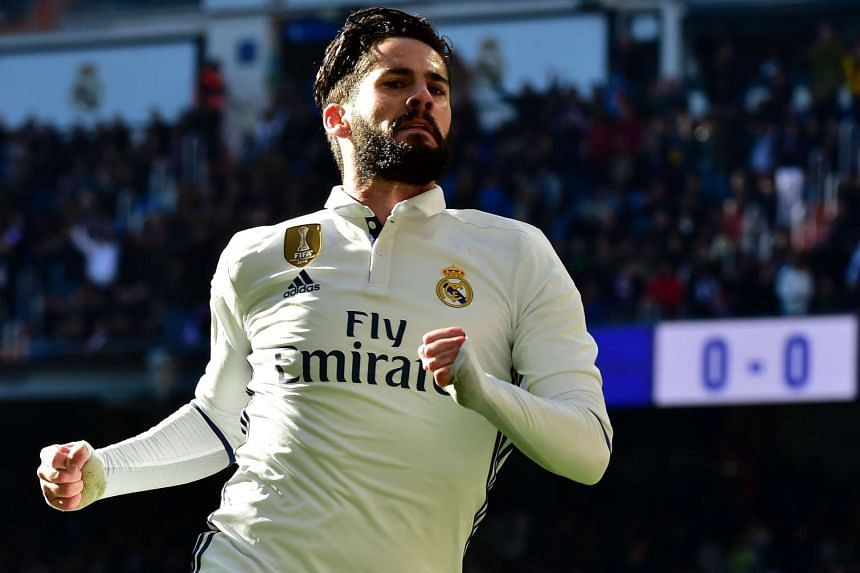 Real Madrid's midfielder Isco has started 11 of 21 matches in La Liga and only one in the Champions League this term.
