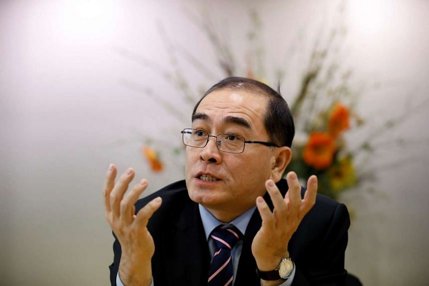 Mr Thae Yong Ho was formerly North Korea's deputy ambassador to the United Kingdom. He defected to Seoul last year.