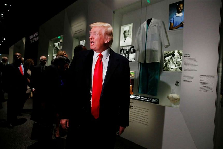 Trump visiting the National Museum of African American History and Culture in Washington.