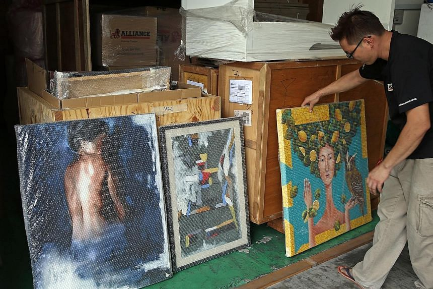More than 100 artworks from Mandala Fine Art are sitting in the warehouse of Alliance Logistics.