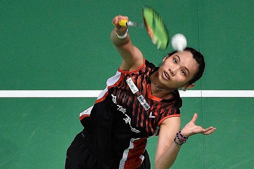 """Chinese Taipei's Tai Tzu-ying in action at the Dubai World Superseries Finals. She won her first tournament as world No. 1 in last December's season finale and has insisted that she """"doesn't feel much different"""" since ascending to the top ranking."""