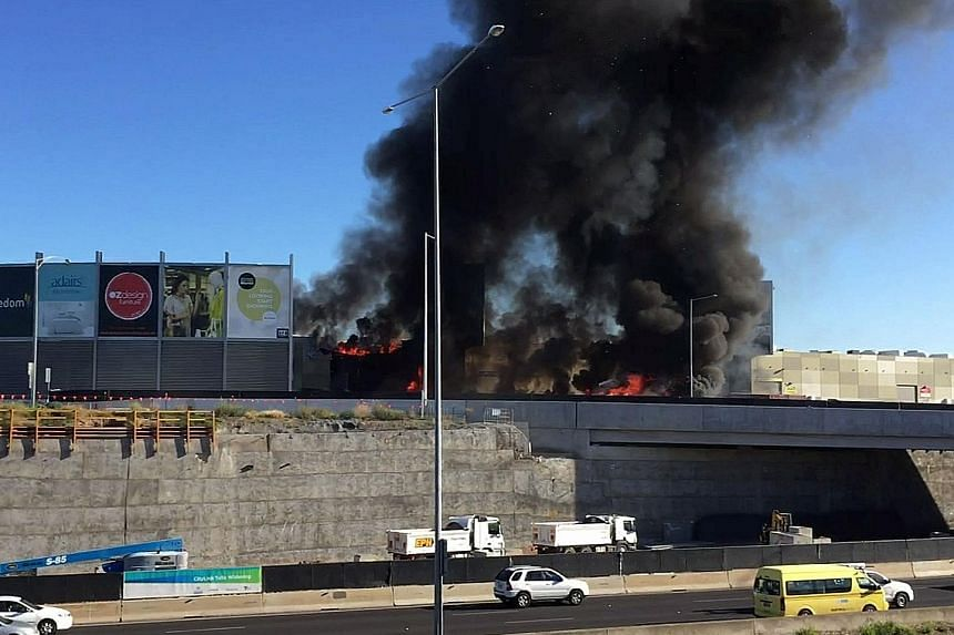 The light aircraft, which had been privately chartered, crashed into a shopping centre almost immediately after taking off from Essendon Fields airport, near Melbourne, yesterday morning. The authorities said that there were no casualties inside the