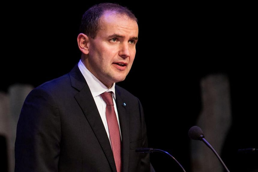 President of Iceland Gudni Johannesson delivering a speech during the presentation of The National Gift - The Complete Sagas of Icelanders in the Danish Royal Library in Copenhagen, Denmark, on Jan 24, 2017.