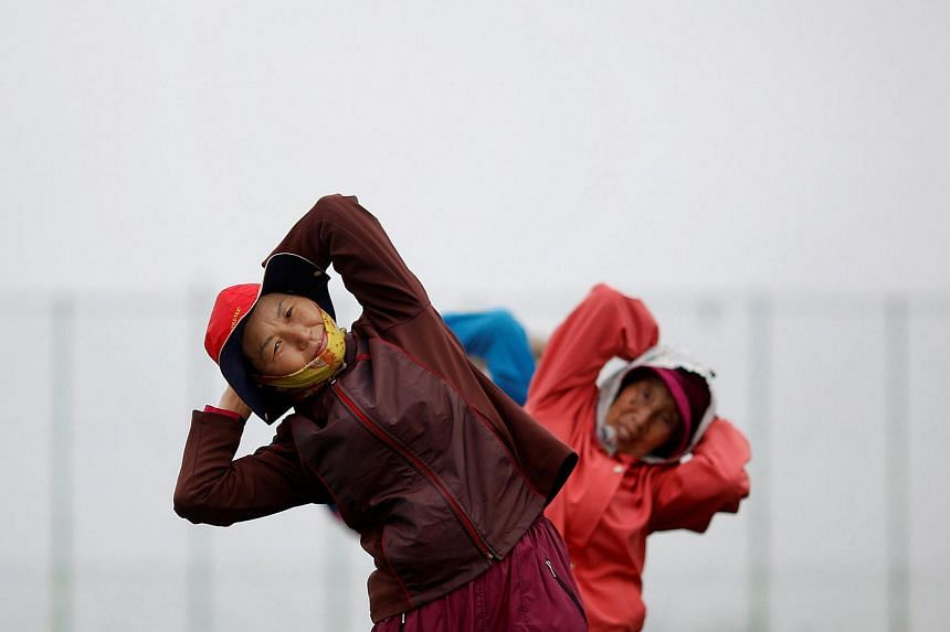 File photo of elderly residents exercising on the island of Yeonpyeong in South Korea. South Koreans are likely to have the highest life expectancy in the world by 2030, according to a study.