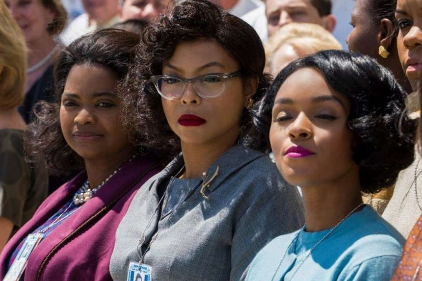 Actresses (from left) Octavia Spencer, Taraji P. Henson and Janelle Monae play the three protagonists of Hidden Figures.