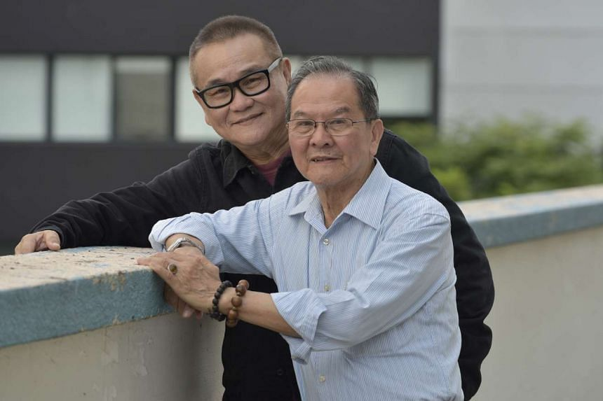 Chen Tianxiang (right) and Vincent Tee (left) play father and son in the film The Return.