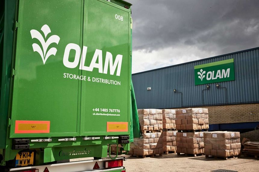 Olam International's warehouse and storage and distribution van.