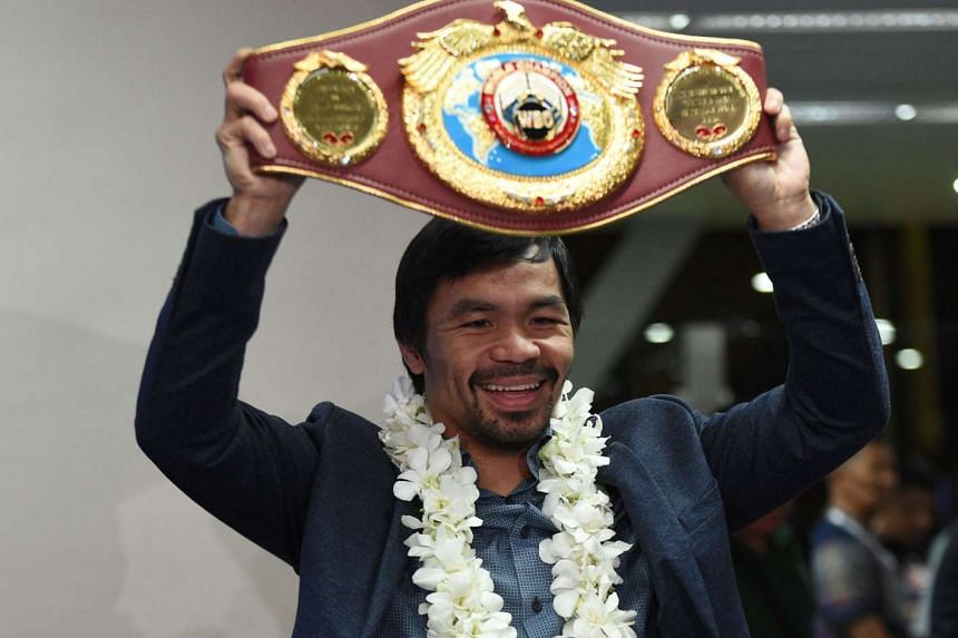 """Manny Pacquiao has said that he was """"in negotiations"""" to face British fighter Amir Khan."""