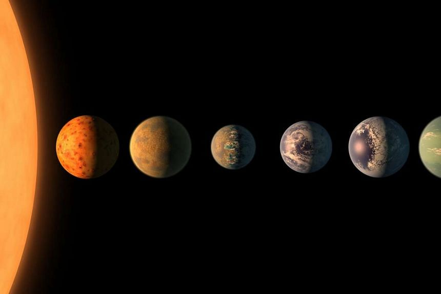 Astronomers have found a nearby solar system with seven Earth-sized planets.