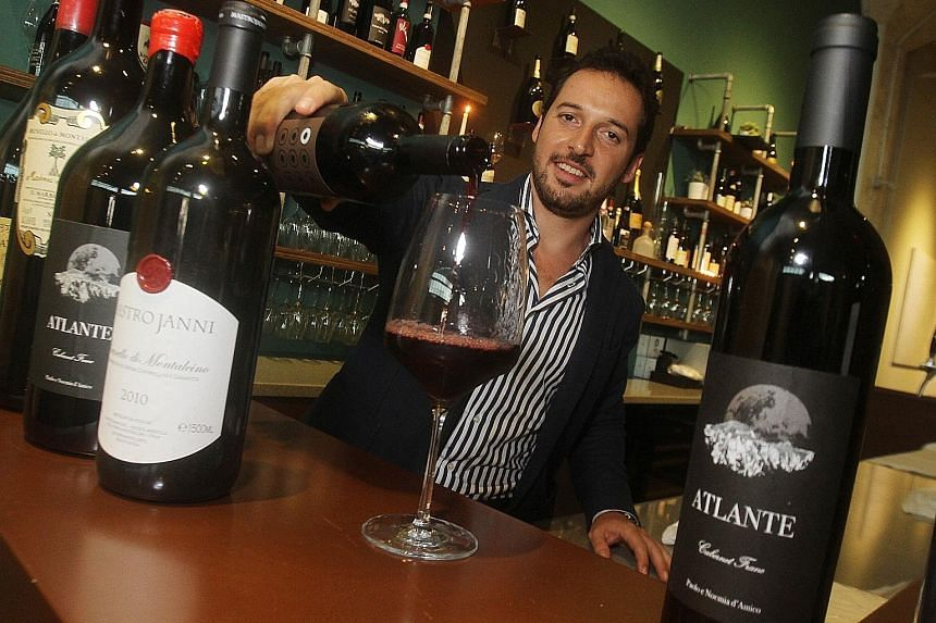 Mr Giacomo Pallesi, owner of Angra Wine & Spirits, will be showcasing a selection of fine Italian wines at the first edition of the ST Wine Fair on March 4. Among the wines to look out for is the Cabernet Franc Atlante 2011, produced by Paolo e Noemi