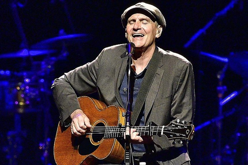 American singer-song- writer James Taylor's singing voice seems untouched by time.