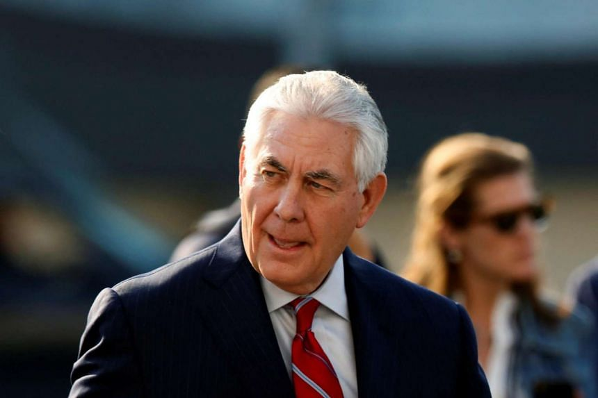 US Secretary of State Rex Tillerson arrives in Mexico City, Mexico.