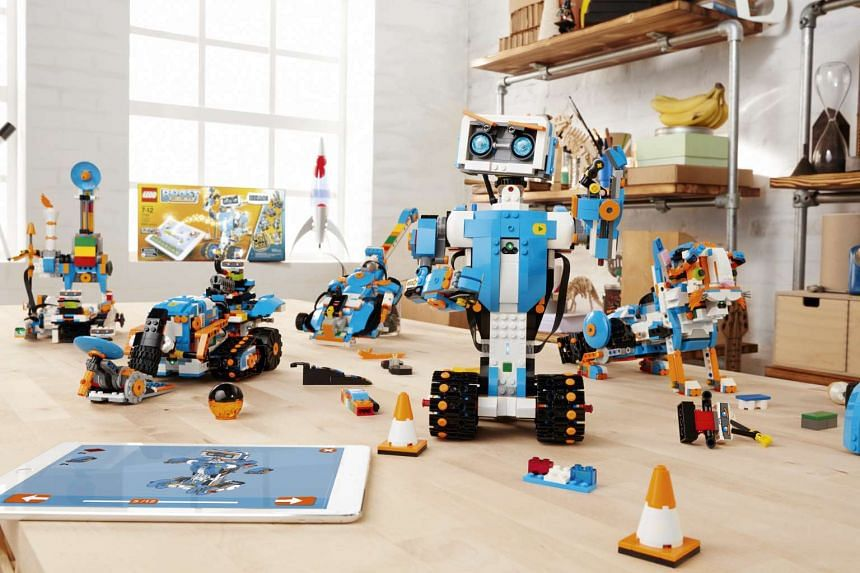 Lego's latest platform, Boost, allows children to customise their toys by building them with Lego blocks and using iPads to programme code them.