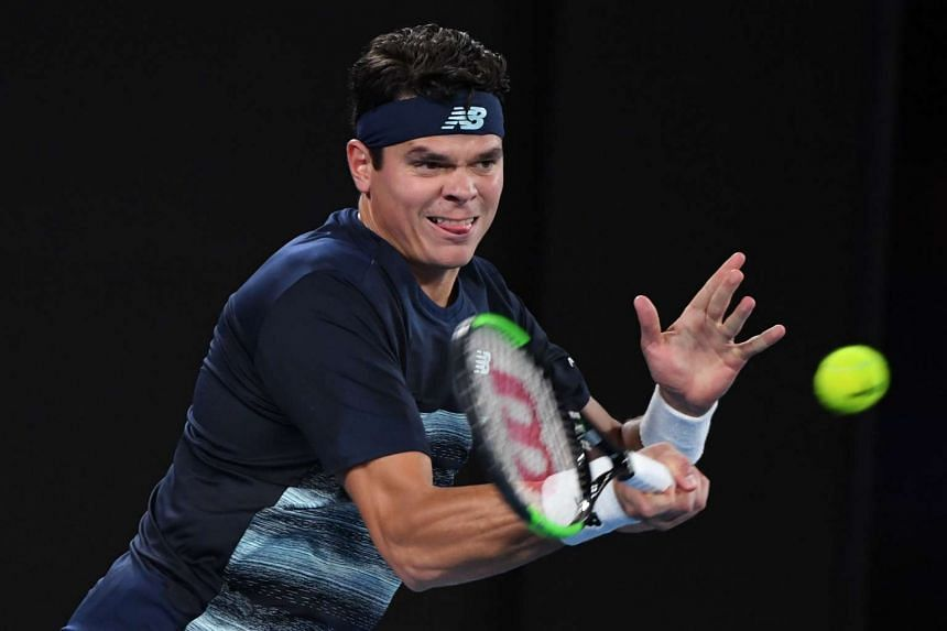 Canada's Milos Raonic advanced to the quarter-finals of the ATP Delray Beach Open on Feb 22, 2017.