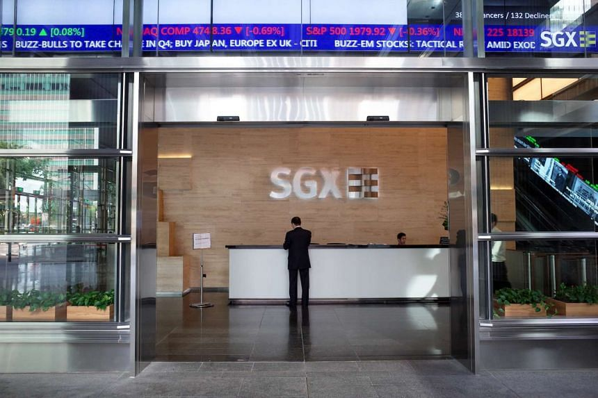 The reception of the Singapore Exchange (SGX).