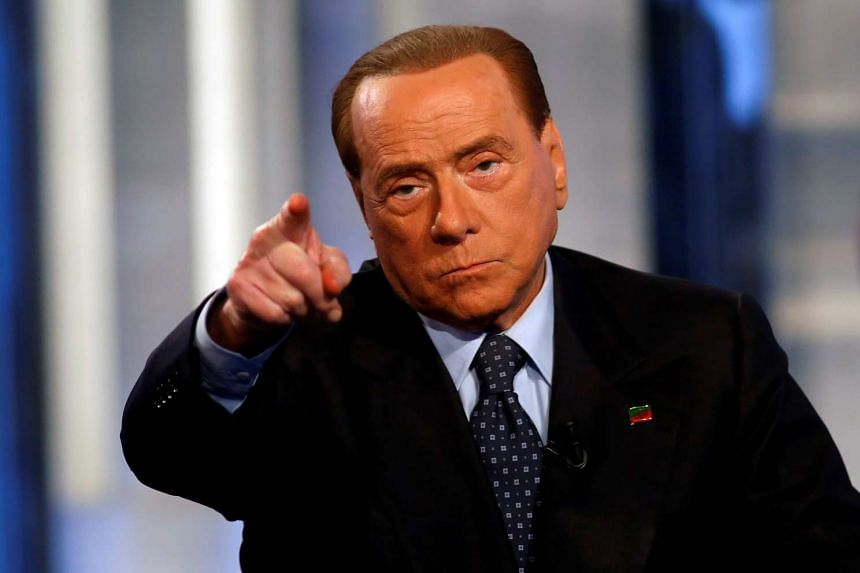 Berlusconi (above, in a file photo) wrote about the auction on his Facebook page.